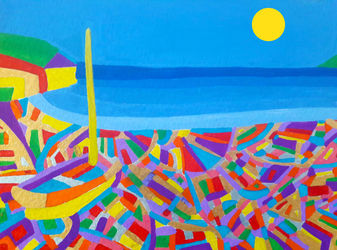 Sailing Boat by the Sea, Paintings, Commercial Design,Fine Art, Avant-Garde,Seascape, Acrylic, By Matthew Lacey