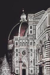 Santa Maria del Fiore <br>Cathedral at Night, Florence<br>Italy, Photography, Realism, Documentary, Photography: Photographic Print, By Daniel Ferreira Leites