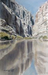 Sante Elena Reflected, Paintings, Fine Art, Nature, Painting, By E West