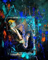 Saxyfolly, Paintings, Expressionism, Figurative, Canvas, By Pol Ledent