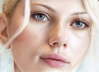 Scarlett Johansson, Drawings / Sketch, Realism, Figurative, Oil, By Stefan Pabst
