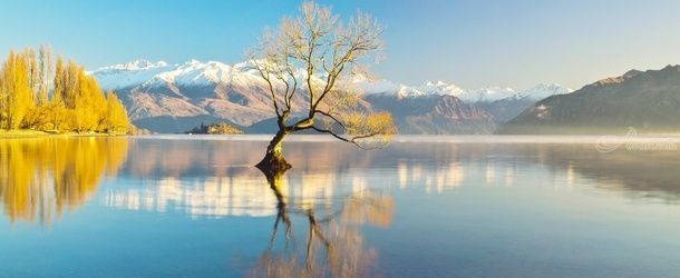 Scenic Lake Wanaka, Photography, Abstract, Landscape,Nature, Photography: Photographic Print, By Anupam Hatui