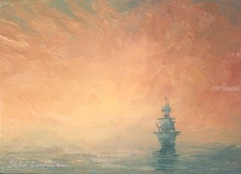 Seascape 8, Paintings, Fine Art, Seascape, Oil, By Sean Conlon