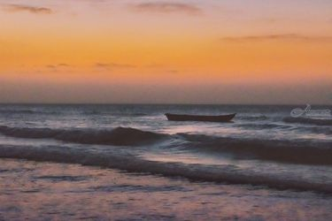 Seascape Sunset at<br>Jericoacoara, Ceara, Brazil, Photography, Impressionism, Landscape, Photography: Photographic Print, By Daniel Ferreira Leites