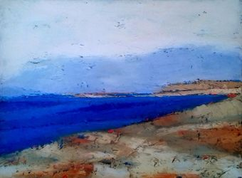 Seaside Landscape 1, Paintings, Abstract, Landscape, Canvas, By Kestutis Jauniskis
