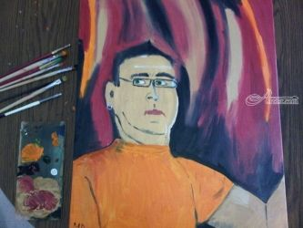 Self-portrait, Paintings, Impressionism, Portrait, Oil, By MD Meiser