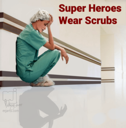 Series Super Heroes Wear<br>Scrubs 3, Illustration, Photorealism, Documentary, Digital, By Marty Jones