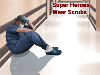 Series Super Heroes Wear<br>Scrubs 4, Illustration, Realism, Documentary, Digital, By Marty Jones