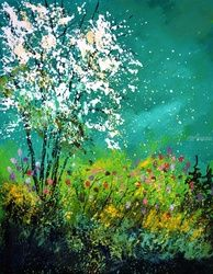 seringat, Paintings, Expressionism, Botanical, Canvas, By Pol Ledent
