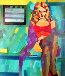 Set On, Paintings, Expressionism,Pop Art, Figurative,Portrait, Canvas,Oil,Wood, By Piotr Kachny