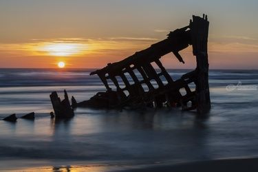 Shipwreck: The Peter Iredale, Photography, Photorealism, Seascape, Photography: Premium Print, By Mike DeCesare