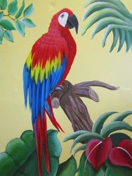 Sonny the Macaw, Paintings, Fine Art, Wildlife, Acrylic, By melanie lutes