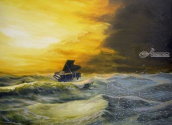 Sound Effects Of The Climax, Paintings, Abstract,Modernism,Realism,Surrealism, Seascape, Canvas,Oil, By Sergey Lutsenko