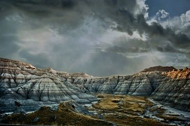 South Dakota Badlands 2, Photography, Photorealism, Landscape, Metal, By Duane Klipping