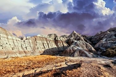 South Dakota Badlands 3, Photography, Photorealism, Landscape, Metal, By Duane Klipping