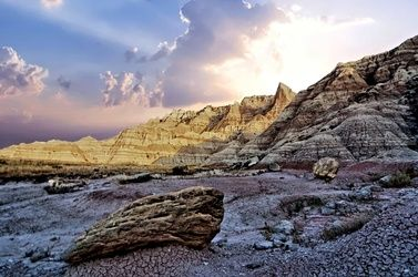 South Dakota Badlands 4, Photography, Photorealism, Landscape, Metal, By Duane Klipping