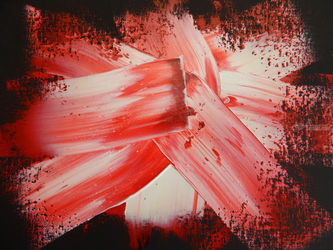SPACE CRYSTALS--RED, Paintings, Abstract, Celestial / Space,Conceptual, Canvas, By William Birdwell