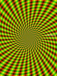 Spiral Rays in Yellow Green<br>and Red, Digital Art / Computer Art, Abstract,Kineticism, Decorative, Digital, By Colin Forrest