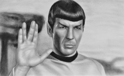 spock star trek 3d, Drawings / Sketch, Realism, 3-D, Oil, By Stefan Pabst