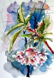 Spring, Paintings, Impressionism, Floral, Watercolor, By Kovacs Anna Brigitta