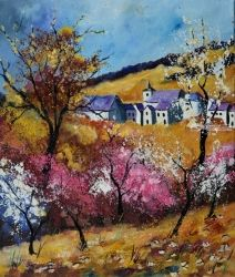 Spring 511, Paintings, Expressionism, Landscape, Canvas, By Pol Ledent