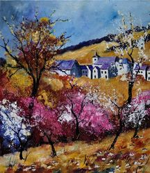 Spring 67415, Architecture,Decorative Arts,Drawings / Sketch,Paintings, Impressionism, Landscape, Canvas, By Pol Ledent