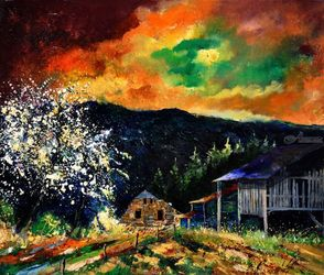 spring in frahan, Paintings, Expressionism, Landscape, Canvas, By Pol Ledent