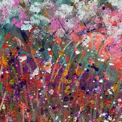 Spring Song, Paintings, Abstract, Botanical,Landscape, Canvas, By Kenneth Parker