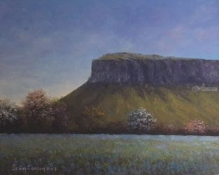 Springtime Near Benbulben, Paintings, Fine Art, Landscape, Oil, By Sean Conlon