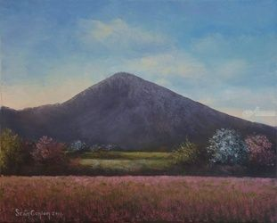 Springtime Near Croagh Patrick, Paintings, Fine Art, Landscape, Oil, By Sean Conlon