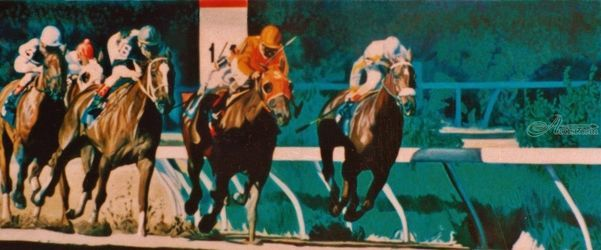 Sprint, Murals,Paintings, Fine Art,Realism, Animals,Figurative,Wildlife, Oil,Painting, By James Cassel