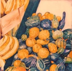 Squash, Drawings / Sketch,Paintings, Fine Art,Realism, Daily Life,Found Objects,Still Life,Window on the World, Watercolor, By James Cassel