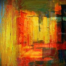 Stations *1, Paintings, Abstract, Analytical art, Canvas, By Bashir Hajji
