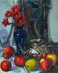 Still life, Paintings, Impressionism, Nature,Still Life, Canvas,Oil,Painting, By Irina Kupyrova