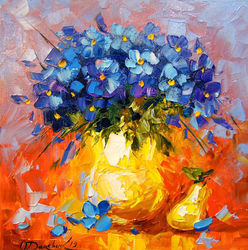 Still life, Paintings, Impressionism, Botanical,Floral,Nature, Canvas,Oil,Painting, By Olha   Darchuk