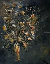 still life 4571, Paintings, Expressionism, Decorative, Canvas, By Pol Ledent
