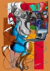 strange kind of mirror, Digital Art / Computer Art, Modernism,Surrealism, Avant-Garde,Erotic,Grotesque,Portrait, Digital, By Nebojsa Strbac