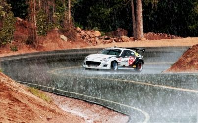 Subaru BRZ Race Car Ascending<br>Pikes Peak, Photography, Chance, Happenings, Photography: Photographic Print, By Erin Carr