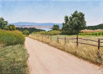 Summer, Paintings, Fine Art,Photorealism,Realism, Landscape,Nature, Canvas,Oil, By Dejan Trajkovic