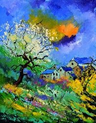 summer  5140, Paintings, Expressionism, Botanical, Canvas, By Pol Ledent