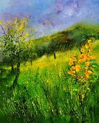 Summer 5641, Architecture,Decorative Arts,Drawings / Sketch,Paintings, Impressionism, Landscape, Canvas, By Pol Ledent