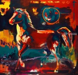 Summer Palette, Paintings, Fauvism, Animals, Acrylic, By Richard Williams