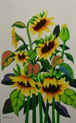 SUNFLOWERS, Paintings, Realism, Floral, Mixed, By Zenon Rozycki