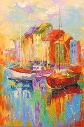 Sunny day, Paintings, Impressionism, Landscape,Nature, Canvas,Oil,Painting, By Olha   Darchuk