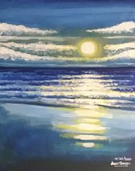 Sunrise on Miami Beach, Paintings, Fine Art, Conceptual, Acrylic, By James Barnes