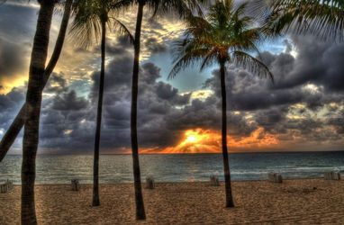 Sunrise over Fort Lauderdale,<br>Florida Beach 2012, Photography, Fine Art, Landscape, Digital, By Timothy Lowry