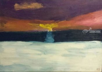 Sunset #6, Paintings, Impressionism, Landscape, Oil, By MD Meiser