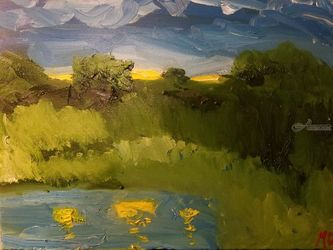 Sunset #1, Paintings, Impressionism, Landscape, Oil, By MD Meiser
