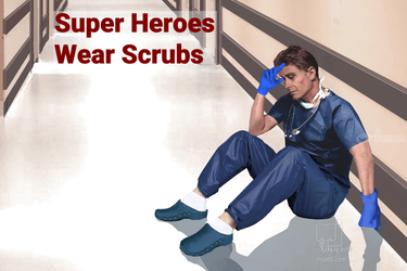 Super Heroes Wear Scrubs 5, Illustration, Realism, Documentary, Digital, By Marty Jones