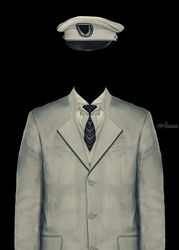 Surreal Officer Man Portrait, Photography, Surrealism, People, Photography: Premium Print, By Daniel Ferreira Leites